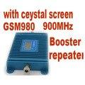 Função display LCD novo modelo GSM 980, alto ganho 70dbi GSM 900 Mhz mobile phone signal booster, GSM repetidor de sinal, frete grátis