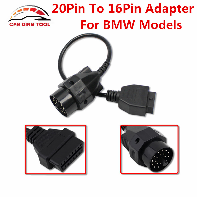 2017 brand new obd obd ii adapter for bmw 20 pin to obd2. Black Bedroom Furniture Sets. Home Design Ideas
