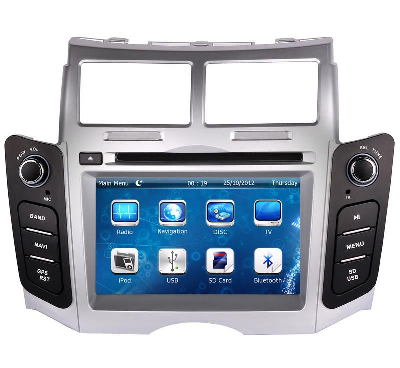 7 Car DVD player with GPS(opt),audio Radio stereo,car multimedia headunit for TOYOTA YARIS 2005 2006 2007 2008 2009 2010 2011