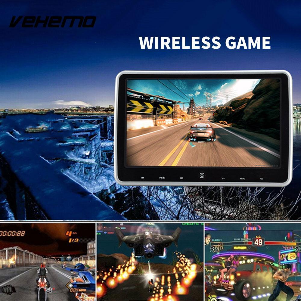 2018 подголовник автомобиля плеер универсальный DVD монитор DC 12 В автомобиля Портативный игровой консоли аудио плеер