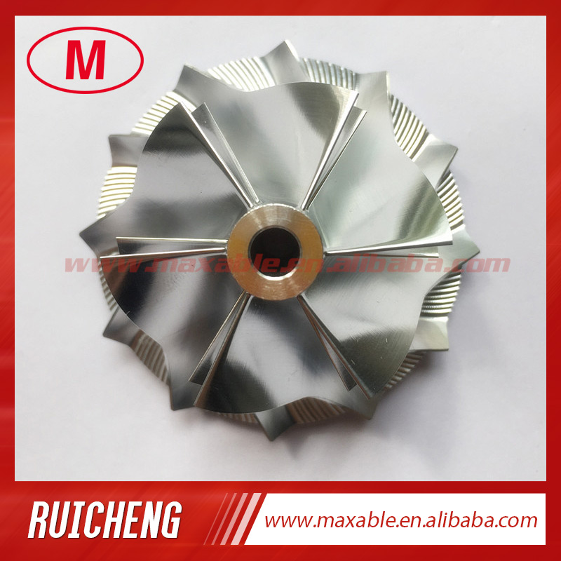 Auto Replacement Parts Rhf4 37.60/51.00mm 6+6 Blades High Performance Turbo Billet/milling/aluminum 2618 Compressor Wheel For Vj44/a2710903680