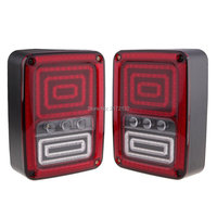 2pcs Multi Functions LED Tail Light Wrangler Brake Signal Reverse Turn Light For Wrangler Rubicon JK