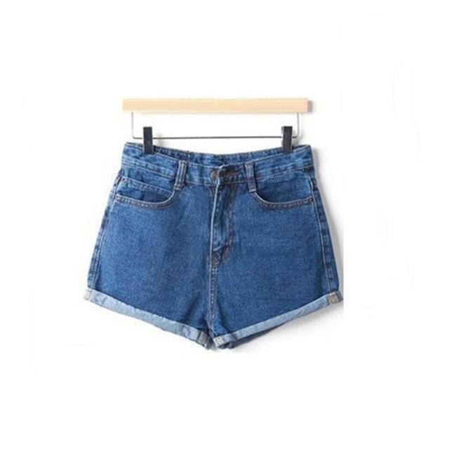 Women's Crochet Hook Jeans Summer High Waist Stretch Denim Shorts Slim Jeans Feminino Brand Summer Spring Plus Size  S6