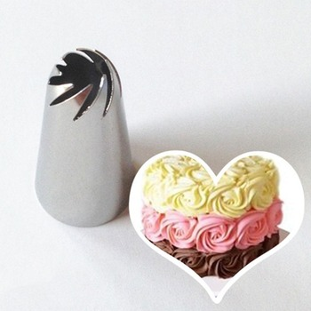 Flower Icing Nozzles Stainless Steel Pastry Tube Cream Piping Tips Nozzle Fondant Cake Decorating Tools