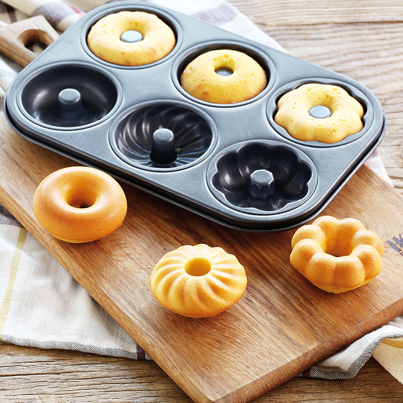Chef Made 6 Cups Diy Baking Tools Non Stick Steel Cupcake