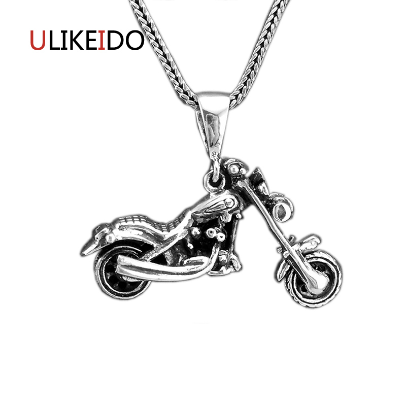 S925 Sterling Silver Jewelry Motorcycle Pendant Charms Punk Haulage Motor Necklace For Men And Women Creative Chain 145S925 Sterling Silver Jewelry Motorcycle Pendant Charms Punk Haulage Motor Necklace For Men And Women Creative Chain 145