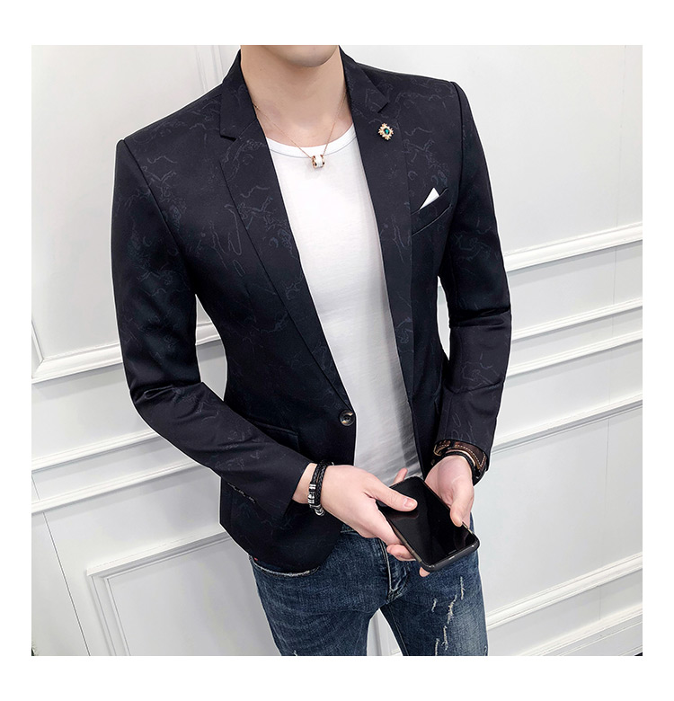 Marque Picture Hommes Color Smoking Veste Fit Robe Impression Blazer De Parti Vêtements Slim Bal Classique Mariage Casual Color Masculino Nouvelle Costume picture xIpU5AUw