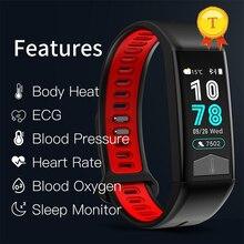 أحدث الديناميكي المستمر القلب معدل ضغط الدم معصمه إندستريز ECG سوار ذكي جهاز تعقب للياقة البدنية ذكي معصمه