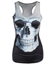 2017 Summer Cool Vest Women Fashion 3D Printed Skull Pattern Tank Top Sexy Top