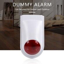 Ao ar livre falsa câmera de vigilância em casa simulação de segurança mini cctv câmera led vermelho luz falsa câmera branca