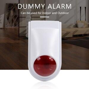Zewnętrzna sztuczna kamera nadzór domowy symulacja bezpieczeństwa Mini kamera telewizji przemysłowej czerwona dioda LED fałszywa biała kamera