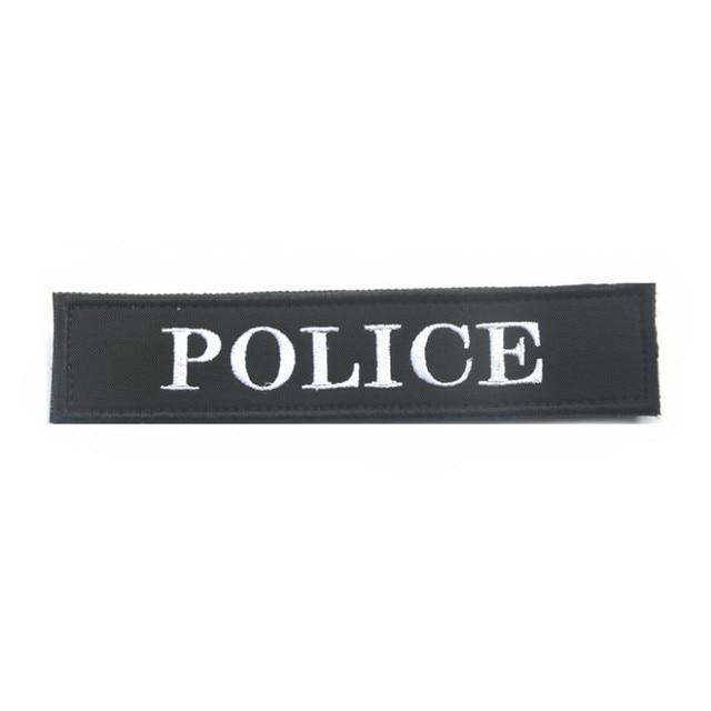 POLÍCIA Bordado Emblemas de Patch Bordado Patches de Crachá Roupas Tático  Militar de Alta Qualidade Personalidade 6139035354f