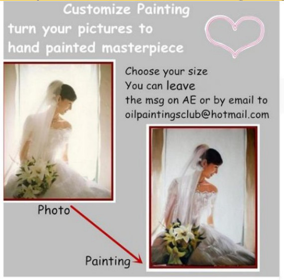 Large Custom Oil Painting Photo to Wall Art on Canvas for Home Decoration Hand Painted High Quality