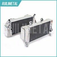 Left Right Aluminium Cores Motocross Cooling Radiators For HONDA CRF250R X 04 05 06 07 08