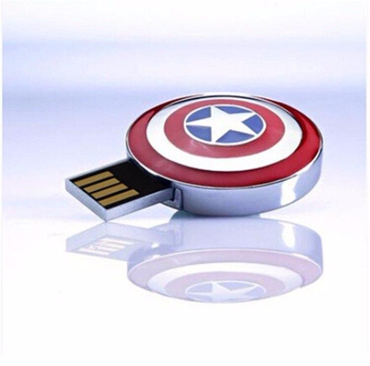 Os Vingadores Capitão América pen drive cartão de memória flash usb stick O Hulk Thor 8G 16G 32G 64G USB2.0 usb flash presente 10PSC/1 saco