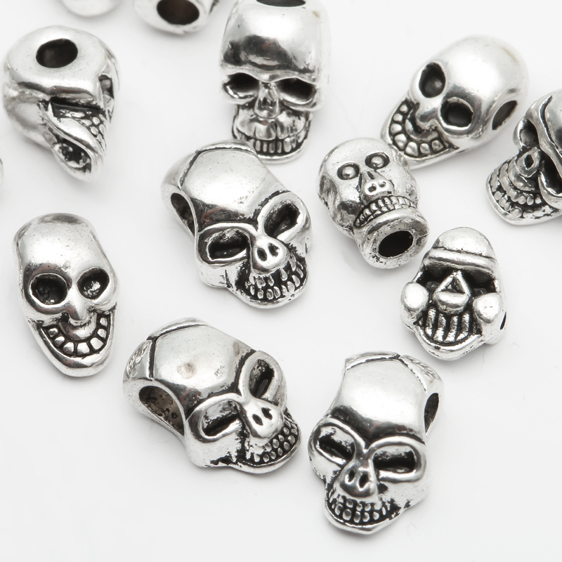 Mixed Sizes Tibetan Silver Er Loose Seed Metal Skull Beads For Jewelry Making Diy Bracelet Necklace Whole Supplies In From