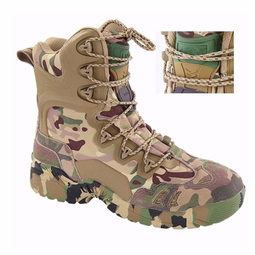 TENNEIGHT/уличные тактические ботинки для пустыни и охоты; мужские военные ботинки; камуфляжная спортивная обувь для альпинизма; обувь для путешествий и прогулок - 6