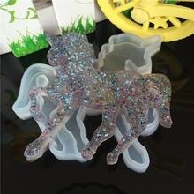 Diy мультфильм животное лошадь капли клея силиконовая форма