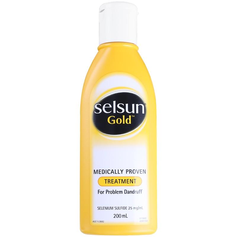 Selsun Gold Dandruff Medicated Shampoo Treatment Anti Dandruff Seborrheic dermatitis Shampoo Relieve Flaking Itching Cools Scalp