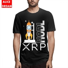 HODL Ripple NEW XRP Logo T-shirt Quality Homme Tee Shirt Crewneck Alicedream