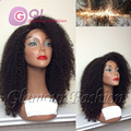 Плотность 180 афро странный курчавый парик 100% человеческие волосы бразильский странный вьющиеся парик и glueless перед парики для чернокожих женщин