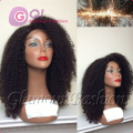 180 density Afro kinky curly wig 100% human hair Brazilian kinky curly full lace wig & glueless lace front wigs for black women