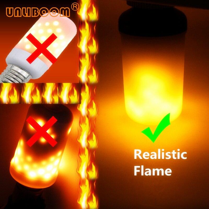 Creativo 3 modos + Sensor de la gravedad de la llama luces E27 E26 E14 LED efecto de la llama de luz bombilla 7 W 9 W parpadeo de emulación de decoración de la lámpara