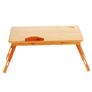 Image 2 - 조정 가능한 대나무 컴퓨터 스탠드 노트북 책상 노트북 책상 노트북 테이블 침대 소파 침대 트레이 피크닉 테이블 학습 테이블