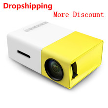 YG300 LCD Projector 600 lumen 320x240 Pixels 1080P HDMI YG-300 USB 3.5mm Audio Mini Projector Home Media Player vivibright gp7s mini lcd projector 480x320 200lm hdmi usb