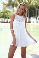 Summer Hot Sale Maternity Clothes Branco Chiffon Embroidery Pregnant Dress Elegant Chic White Dress Nice Exotic