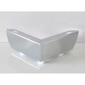 Image 1 - 4 stks/partij 110*110 * H55mm Meubels Bad Koffie Bar Sofa Stoel Been Voeten Met Schroeven, chrome/Rvs Voor Optie