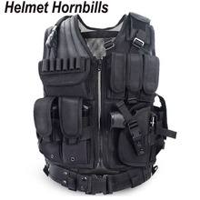 Helmet Hornbills Police Tactical Vest Outdoor Camouflage Military Sports Wear Hunting Vest Army Swat Molle Vest