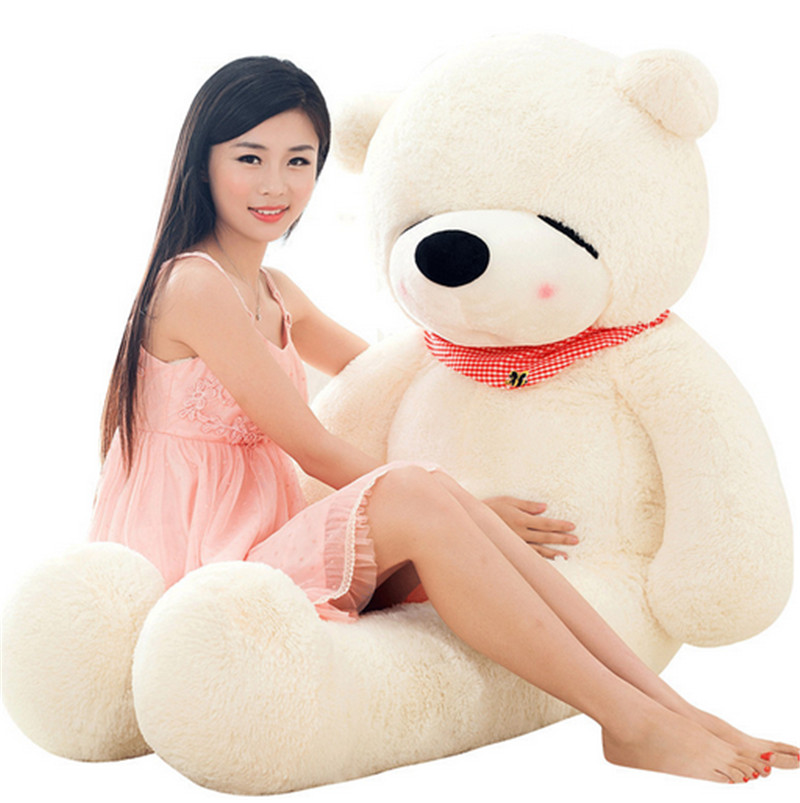 Fancytrader Giant Sleeping Teddy Bear Plush Toy Stuffed Romantic Bears Doll 160cm 63inch fancytrader new style teddt bear toy 51 130cm big giant stuffed plush cute teddy bear valentine s day gift 4 colors ft90548