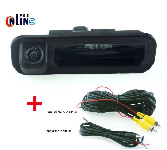 Runk Handle Car Rear View Camera For Ford Focus Sedan Mondeo CCD Night Vision Car Camera Install on Car Trunk Boot Lock Slot