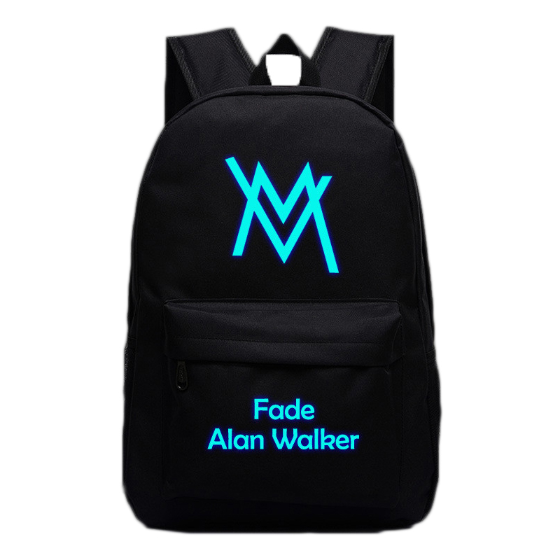 Music DJ Comedy Alan Walker Backpacks Luminous Bags For Teenagers Fade Faded Travel Bags High Quality School Bag Gifts Hip Hop the comedy of errors