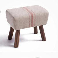 EMS 100 Wood Foot Cloth Art Sofa Pure Cotton Fabric Sofa Solid Wood Furniture Style Solid