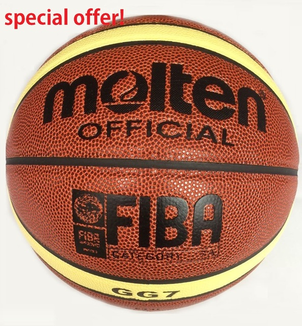 Hot Sale Man's Basketball Molten GG7 Basketball Size 7 PU Leather Homme Basketball GG7 Category 7A With Net Bag Needle