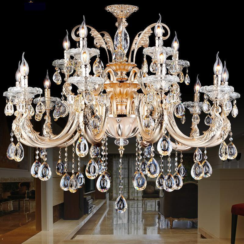baroque gold chandelier crystal lustre de cristal shopcase large luxury queen chandelier light. Black Bedroom Furniture Sets. Home Design Ideas