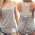 Hot Marketing Women Summer Vest Top Sleeveless T-shirt Casual T Shirt Lace