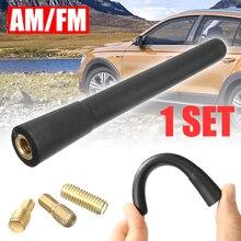 For AM & FM Signals 1pc Universal Mast Screw Type Car Short Stubby AM/FM Radio Antenna Aerials Mayitr
