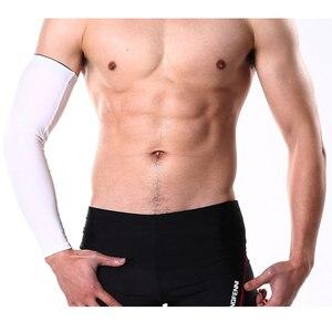 Image 3 - 1Pcs Breathable Quick DRY UV Protectionแขนแขนข้อศอกPadฟิตเนสArmguardsกีฬาขี่จักรยานอุ่น