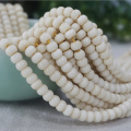 New 108PCs Tagua Nut 7x5mm Round Flat Beads Natural White Color Wood Loose Beads For Jewelry Making DIY Charm Bracelet Wholesale