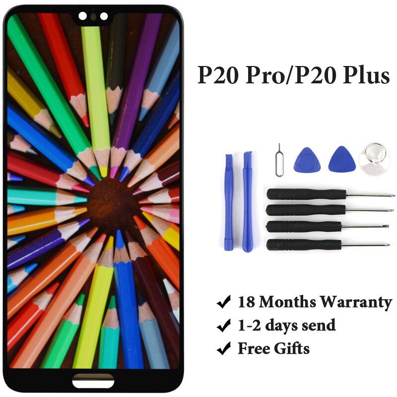 1 pz 100% Tested LCD Per HUAWEI P20 Pro CLT-AL01 Senza Impronte Digitali di Visualizzazione di Tocco Digitale Dello Schermo di Ricambio No Dead Pixel