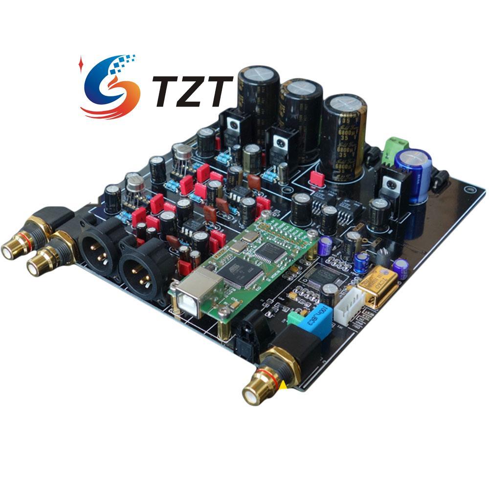 bilder für HiFi ES9018 TCXO PPM Verstärkerplatine 4 Schicht DAC Decoder w/3 RCA Bestückte Platine Audio Dekodierung Decoder
