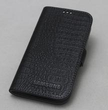 De Calidad superior 100% de Cuero de Vaca Genuino Cubierta Delgada Del Tirón Del Teléfono Caso de La Piel para Samsung Galaxy S8 Más