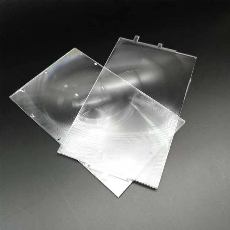 2pcs/set Rectangle Optical PMMA Plastic Fresnel Lens With HD  4 Inch Professional Diy Projector Kit Lens