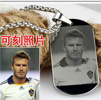 Custom Pictures Image Pendant Necklace Stainless Steel, Engrave Your Photos On Necklace, ID Tag Necklace ,Gift For Her Him