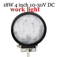 Best Selling 10 30V High Power 2pcs 18W LED Work Light Lamp Round 4inch Led Working