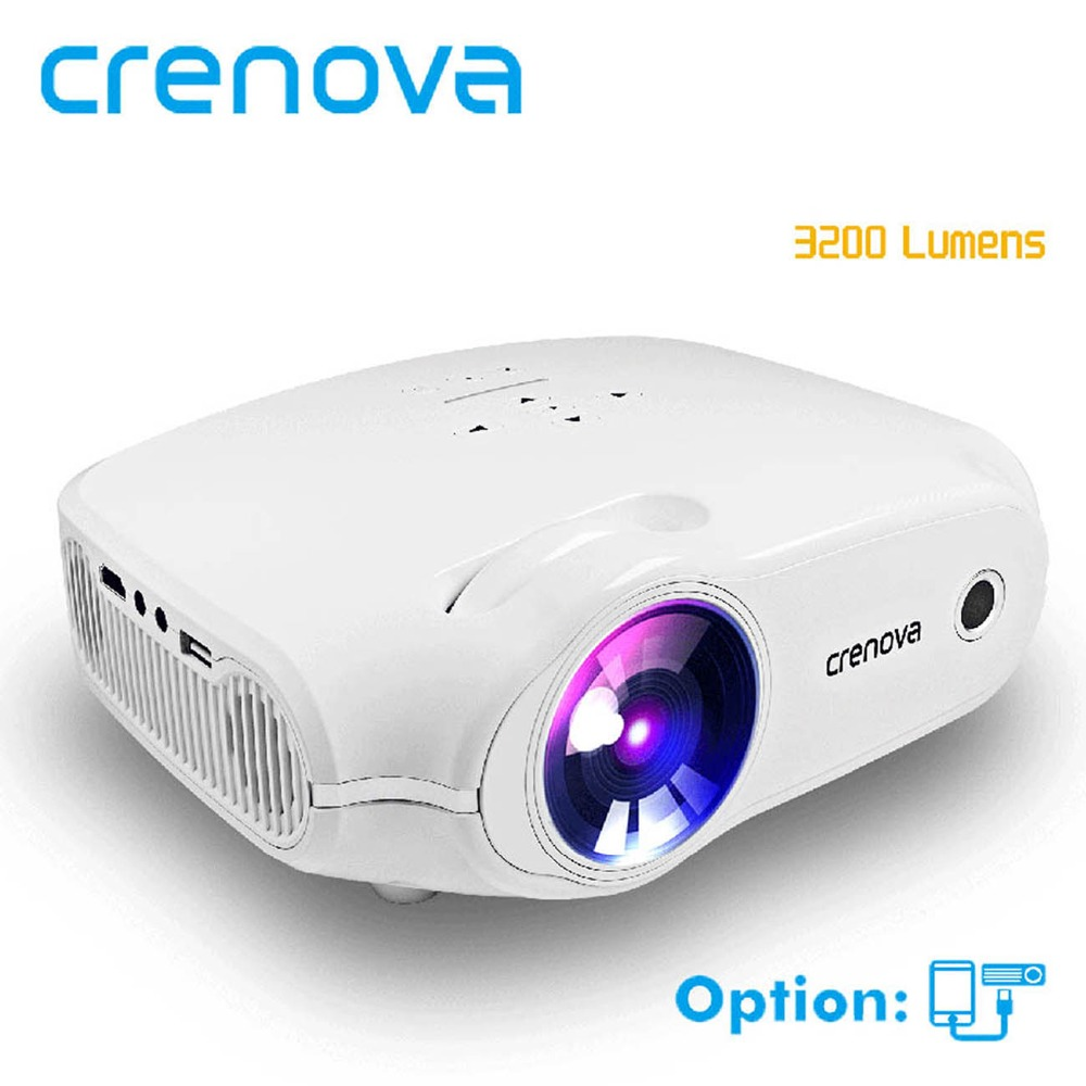 CRENOVA 2018 nuevo Proyector LED para Full HD 4 K * 2 K Proyector de vídeo con VGA HDMI USB AV SD Home Theater Movie Beamer Proyector