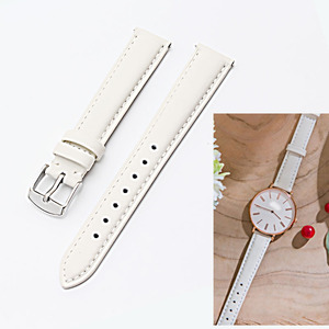 Image 4 - 12mm 14mm 15 mm 16mm 17mm 18mm 20mm rose gold white black brown leather strap, strap lady watch free postage.